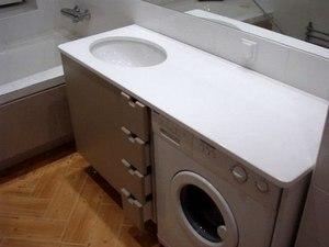 Как выбрать тумбу под стиральную машину с раковиной